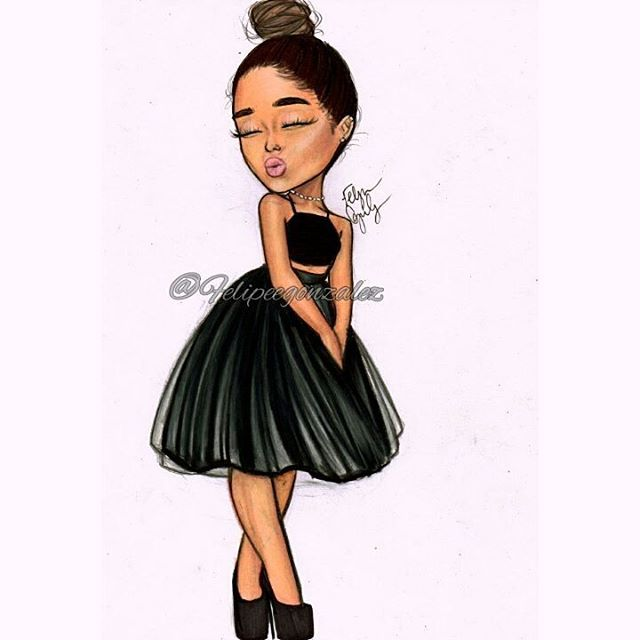 Cartoon of this beautiful lady @arianagrande ❤ pls tag her and repost! I love you!