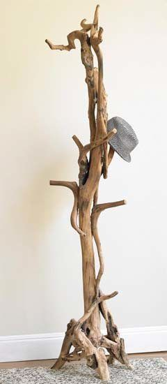 driftwood coat rack - now this is something that I could really
