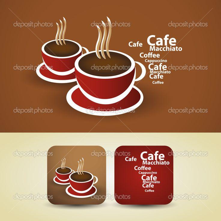 dimensioni flyer   Illustrazione vettoriale di progettazione - tazza caffè rosso ...