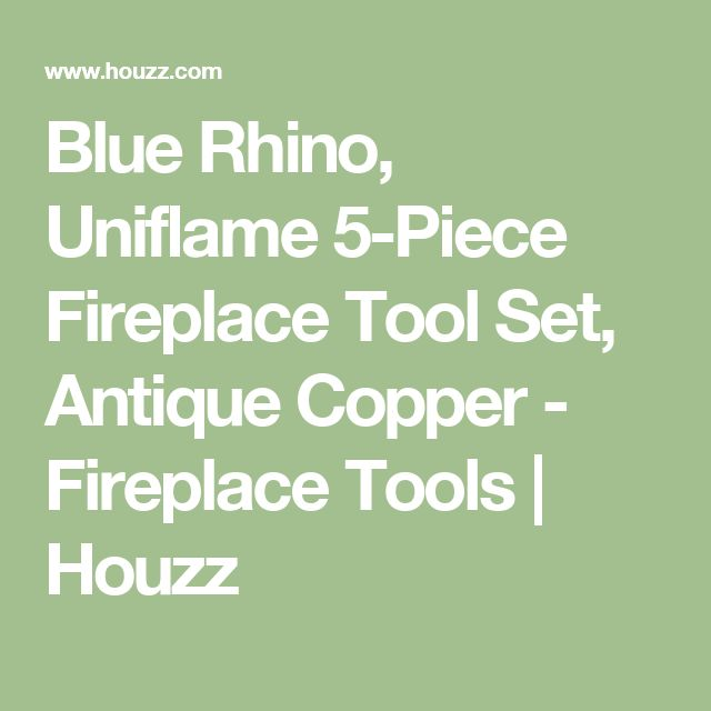 Blue Rhino, Uniflame 5-Piece Fireplace Tool Set, Antique Copper - Fireplace Tools | Houzz