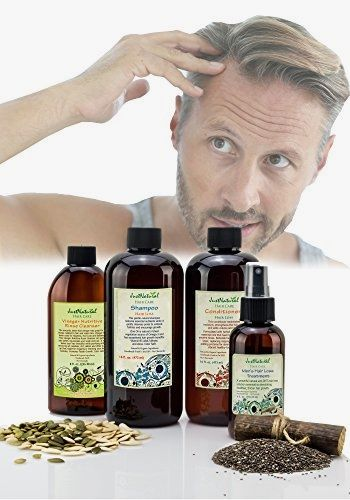 Men's Hair Nutritive Kit | Hair Loss Shampoo | Hair Loss Conditioner | Vinegar Nutritive Rinse Cleanser | Men's Hair Loss Treatment | The Best Hair Loss Natural Kit For Men BUY NOW     $117.96    Just Natural the Healthy Approach. This one stop kit with 1