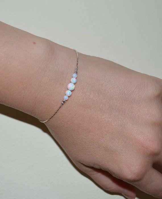 Sterling Silver Glass Charm Bead Avec Blanc avec Dainty Dots