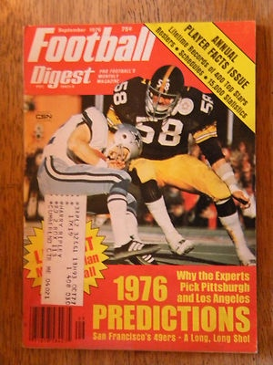 1976 FOOTBALL DIGEST MAGAZINE NFL PHOTOS VINTAGE PITTSBURG STEELERS