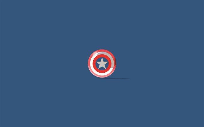 Pc Wallpaper Indir Duvar Kagidi 4k Kaptan Amerika Minimal Super Kahramanlar Logo Kap Mypin Captain America Kalkani Captain America Kaptan