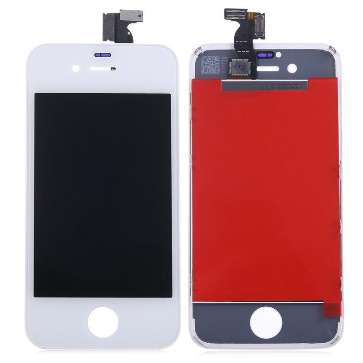Pour iPhone 4s Remplacement LCD Assemblée D'écran + Tactile En Verre panneau Digitizer Repair Tool Kit pour iPhone 4S w/Soutenir cadre