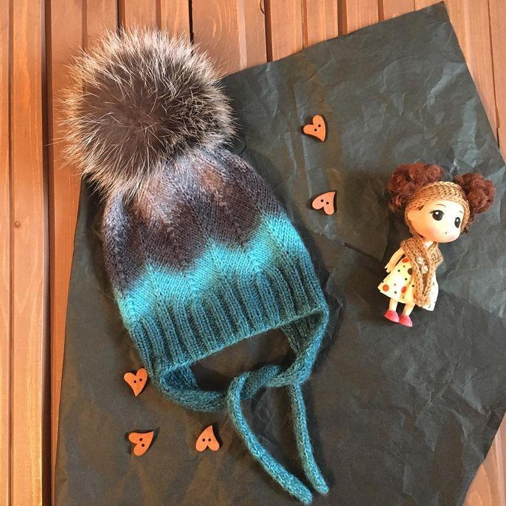 Шапка на малышку 6 месяцев ➿➿➿➿➿➿➿➿➿➿➿ #шапкадлямалышки#вязанаяшапка#вязание#мода#теплаяшапка#вяжуназаказ#шапкадлядевочки#вязанаямода#ручнаяработа
