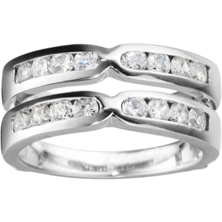 Sterling Silver 1/2ct TDW Diamond Traditional Style X-design Jacket Ring (G-H, I2-I3) (Two-Tone Sterling Silver, Size 12.50), Women's, Size: 12.5