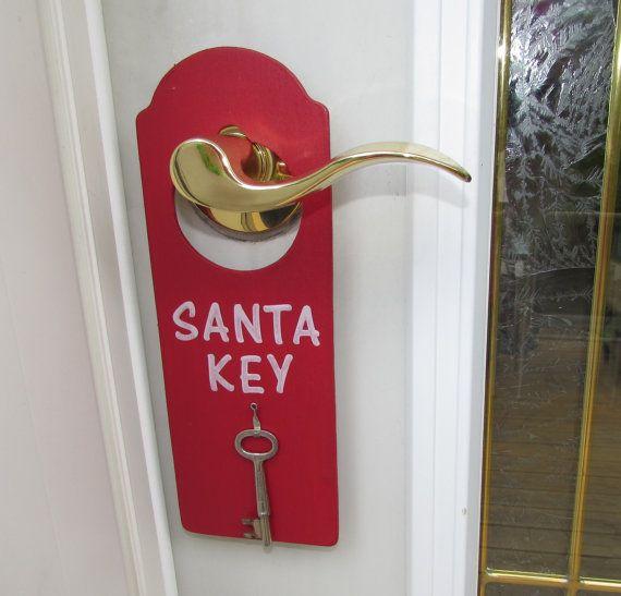 SANTA KEY Door Hanger Magic Santa Key No Chimney by TheGiftGrotto