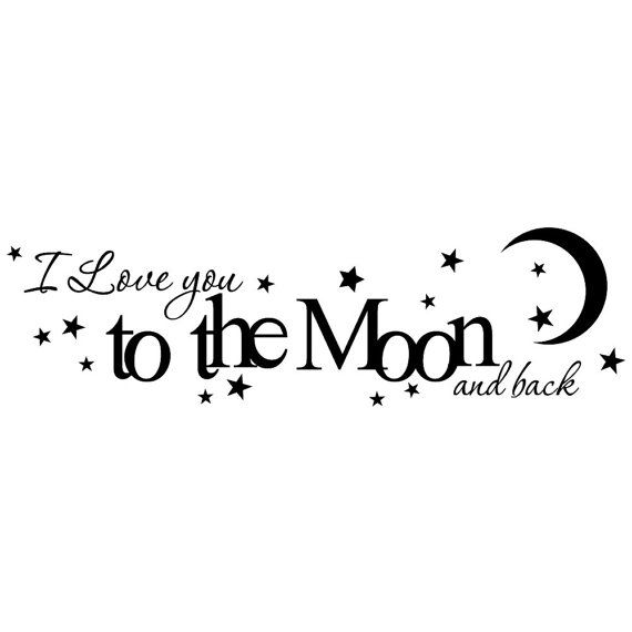 I love you to the moon and back vinyl wall decal nursery or childs room quote on Etsy, $12.99