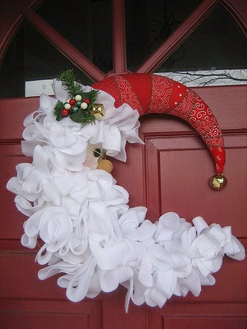 "Neat Santa door ""wreath""                                                                                                                                                                                 More"