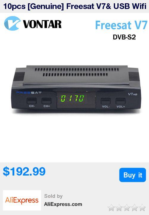 10pcs [Genuine] Freesat V7& USB Wifi  DVB-S2 Satellite TV Receiver Support PowerVu Biss Key Cccamd Newcamd Youtube * Pub Date: 19:22 Sep 15 2017