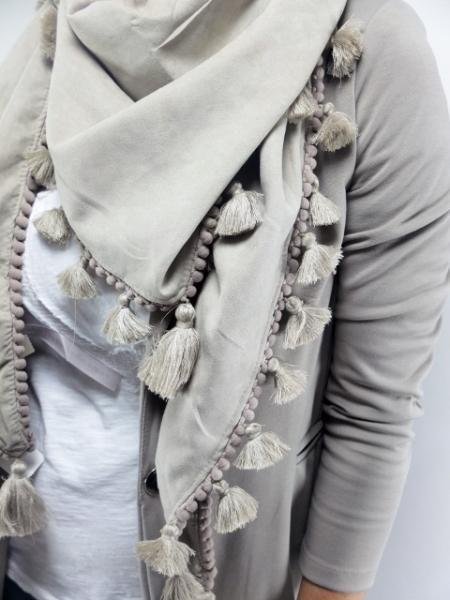 Ibiza kwast sjaal omslagdoek - Zand