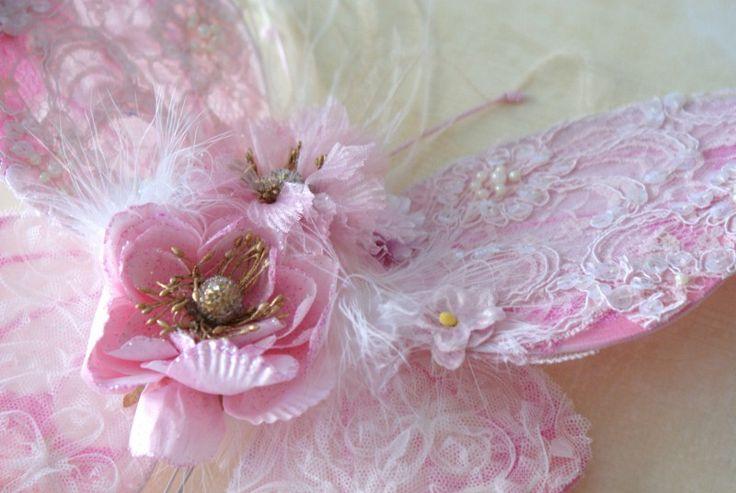 beautiful beaded lace wings