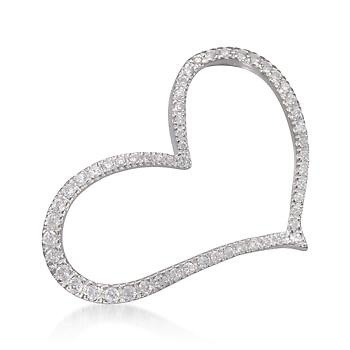 CZ Asymmetrical Heart Pin in Sterling Silver. A free-spirited valentine for any time of the year. #valentinesday #love Click the pin to see more just like it.