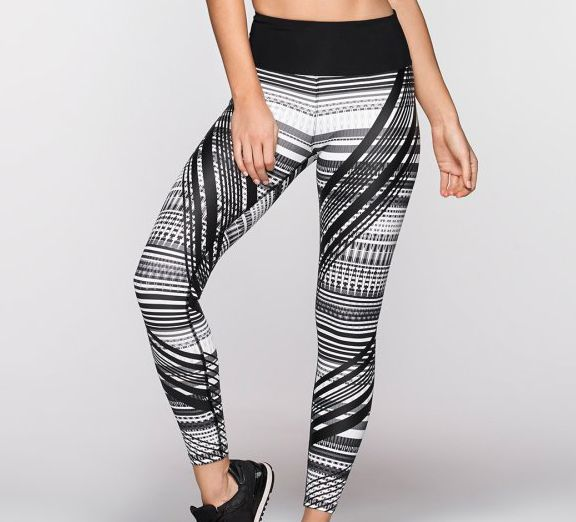 Monochrome magic! The Crazed Core Full Tights by Lorna Jane - available at onsport.com.au for $137.95.