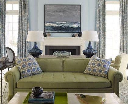 Olive Blue Living Room