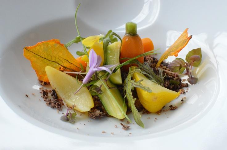 Vegetable garden w pumpkin & licorice