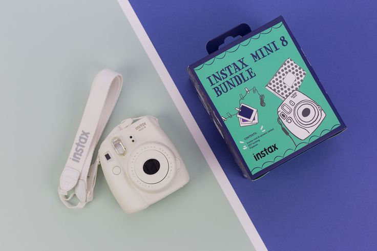 Instax Mini 8 Bundle. Packaging Designed by Zeus Productions