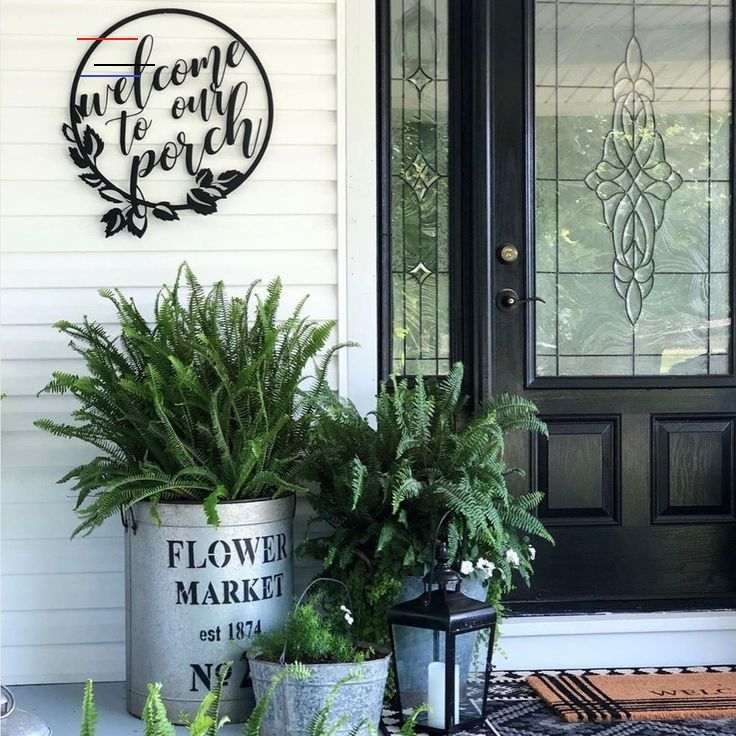 Welcome To Our Porch Sign Smallporchdecorating In 2020 Vorgarten Dekorieren Veranda Dekoration Kleine Vordacher