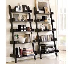 Pottery Bran home-decor: Decor, Ideas, Bookshelves, Living Rooms, Book Shelves, Wall Shelves, House, Pottery Barns, Ladder Shelves