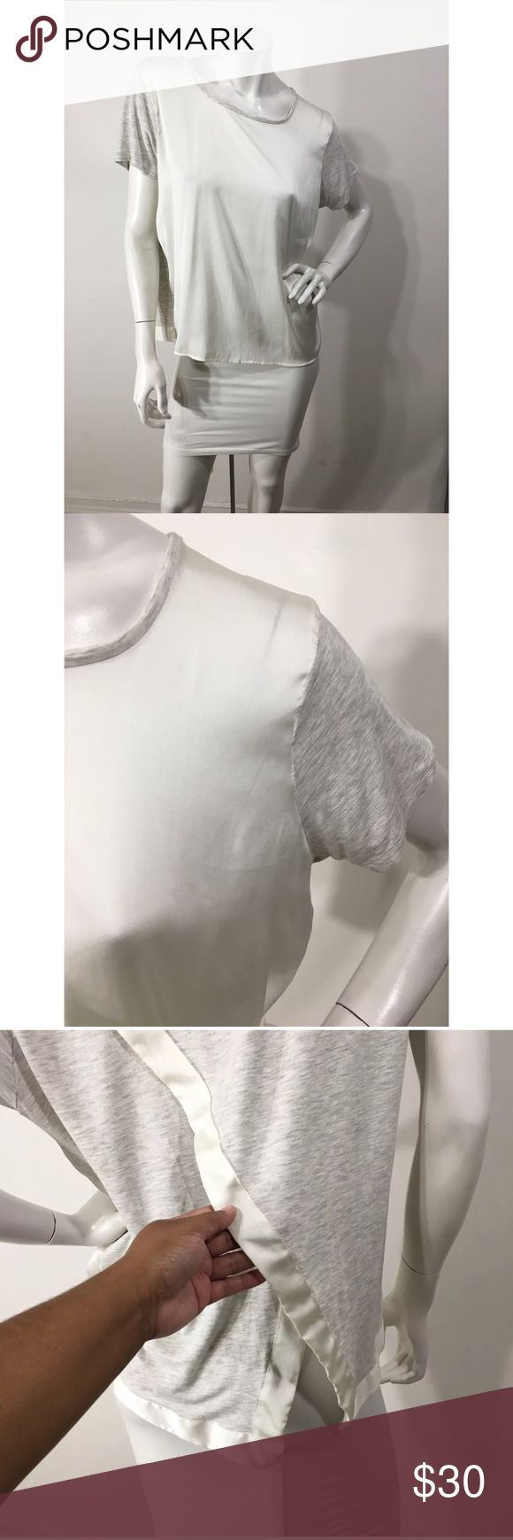 """Anthropologie Dolan Left Coast Top Wrap Back Check out my other listings! Bundle and save! Gently worn. No flaws. Comes from smoke- free/ pet free environment. Size: Large Length: 26"""" Underarm to Underarm: 24"""" Material: Shell- Rayon/Spandex Contrast- Polyester Anthropologie Tops"""