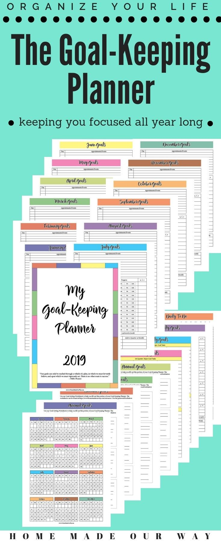 Learn More About Our New Goal Keeping Planner It Combines Goal Setting And A Yearly Planner In One So That You Stay Focu Personal Calendar Goals Mini Planners