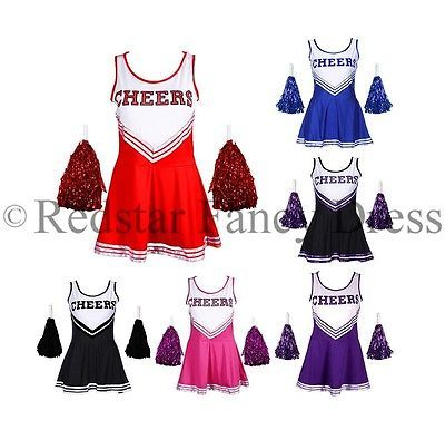 #Cheerleader fancy #dress outfit high school musical #uniform costume + pom poms,  View more on the LINK: http://www.zeppy.io/product/gb/2/251611098973/