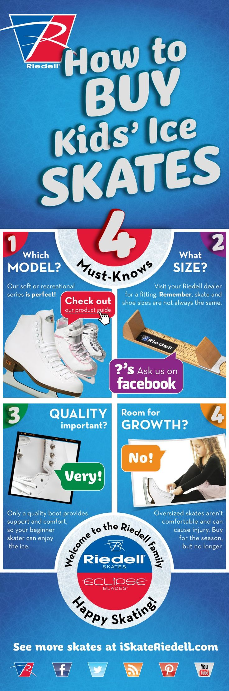 How to Buy Kids' Ice Skates by Riedell. Perfect for beginners!