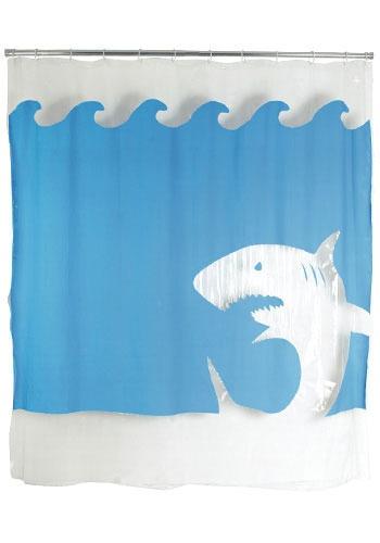 Gotta love sharks in the bathroom decor