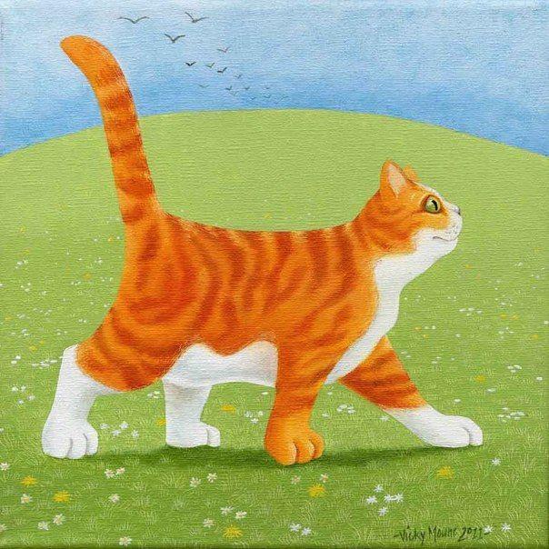 Удивительно обаятельные коты Vicky Mount - Ярмарка Мастеров - ручная работа, handmade