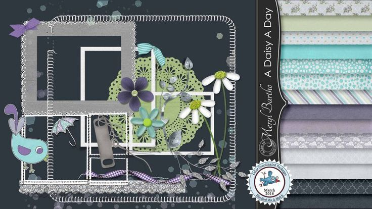 A Daisy a Day Page Kit