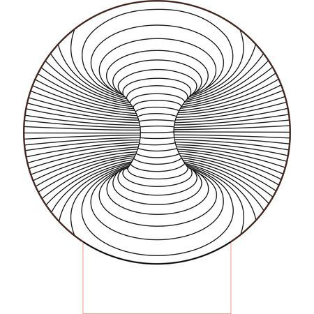 CNC and Jigsaw router Double hole 3d illusion vector file. Download now.