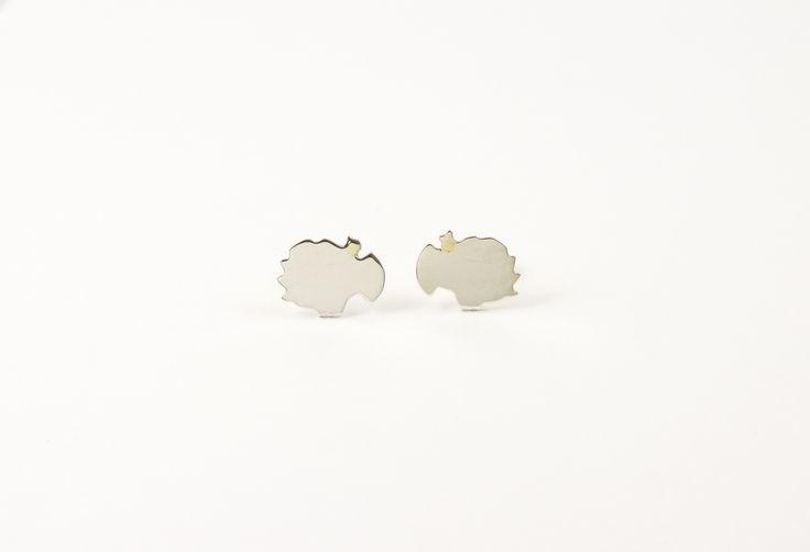 Silhouet oorstekers, zilver 925, 80 euro