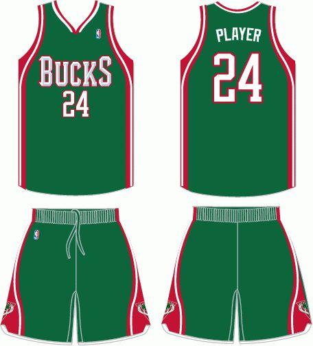 Milwaukee Bucks Road Uniform 2007-2015  7d575b8d4