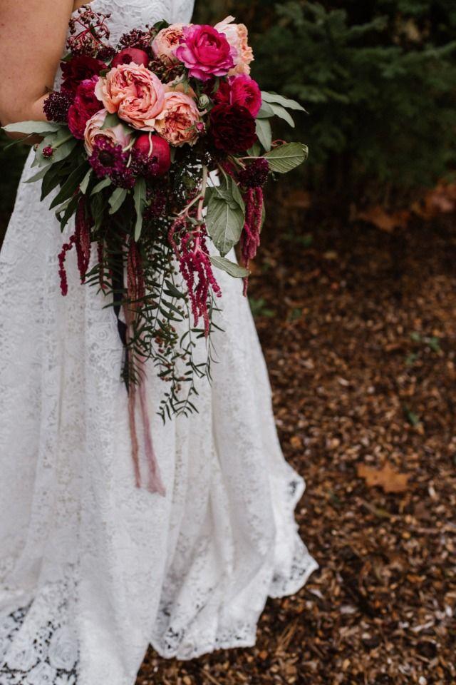 Loose jewel toned bouquet