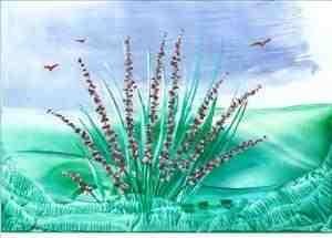 flowers one of my encaustic art paintings