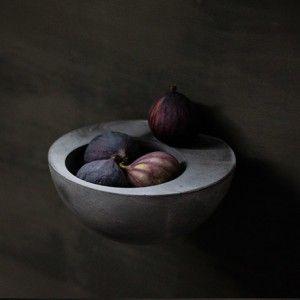 wall bowl black