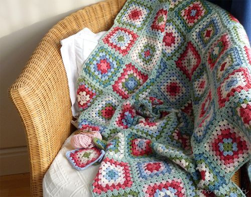 One square a day (China Blanket on Little Cotton Rabbits blog)