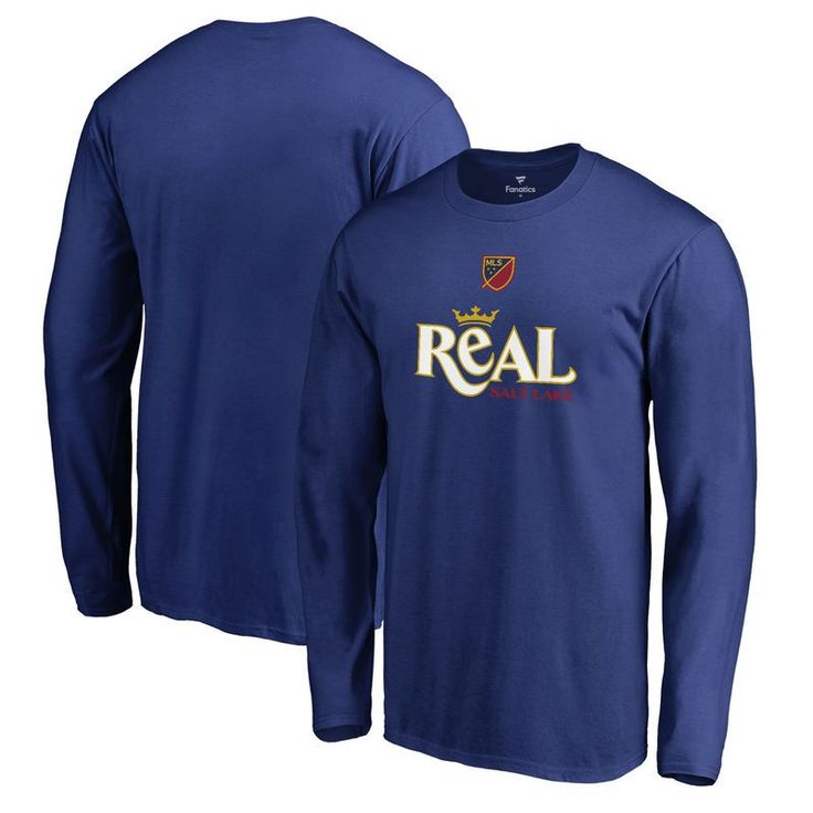 Real Salt Lake Fanatics Branded Shielded Long Sleeve T-Shirt - Royal