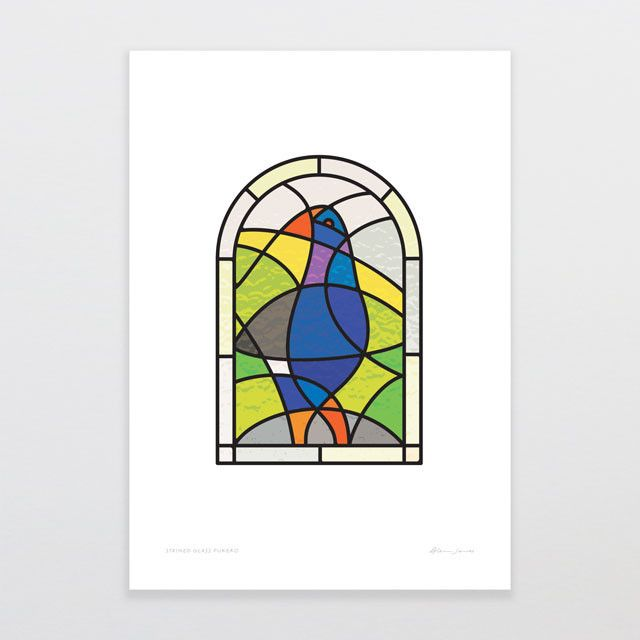 Stained Glass Pukeko | Glenn Jones Art