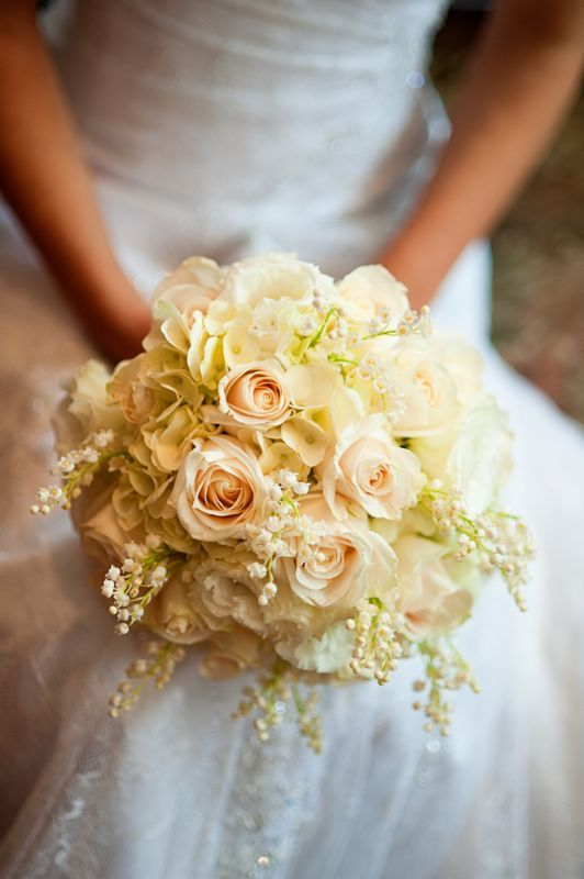 Lily Of The Valley Bouquet Tamar Loved Her Creamy White Accented With Bridesmaid