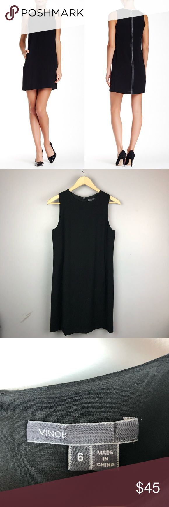 Vince Classic Leather Strapping Little Black Dress Great condition Arm pit to ar... 3