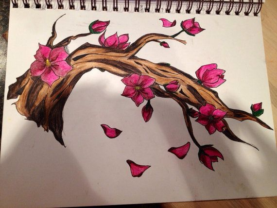 Cherry blossom branch on Etsy, $40.00