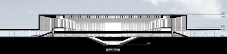 Image 2 of 5 from gallery of Hangzhou South Railway Station / gmp Architekten. longitudinal section