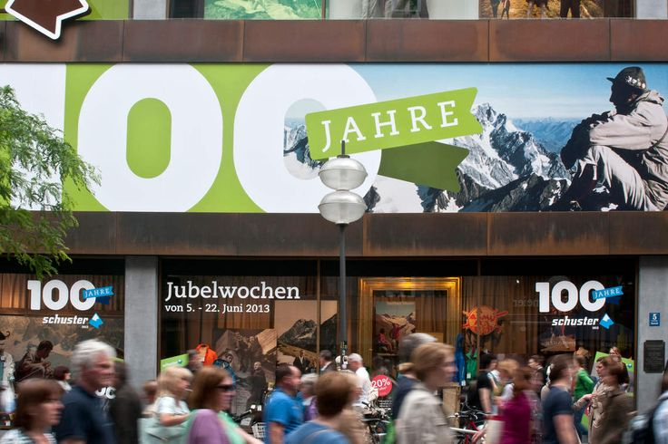 SPORTHAUS SCHUSTER / Kampagne zum 100. Jubiläum / #Konzept #POS #Logo / by Zeichen & Wunder, München