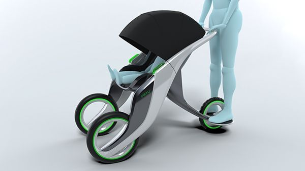 Fpv family partner vehicle concept on behance baby for Mercedes benz baby pram