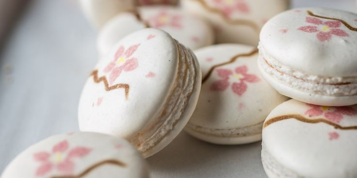 Graham Hornigold combines cherry and orange blossom to create deliciously delicate macarons