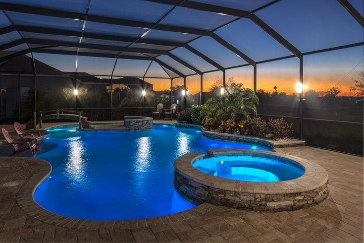 Elegant Led Lanai Lighting Pool Cage Lighting Florida S E Us Sunset Lighting Design Pool Cage Ligh Florida Pool Pool Enclosure Lighting Lanai Lighting