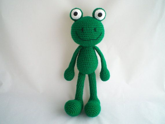 Crochet Frog / Amigurumi Frog / Crochet Amigurumi Soft Toy /