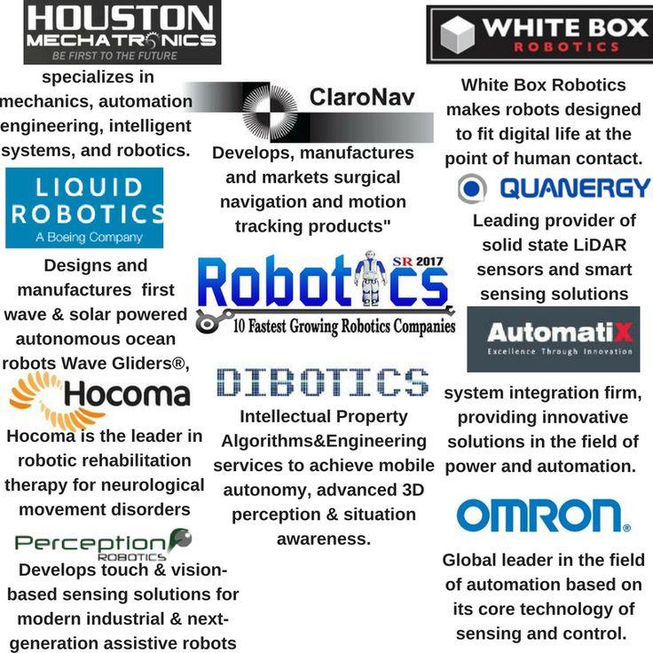 10 Fastest Growing Robotics Companies 2017